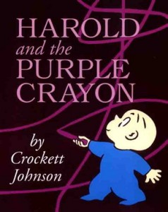 """Book Cover """"Harold and the Purple Crayon"""" by Crockett Johnson"""