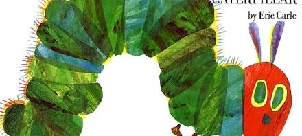 """Book cover """"The Very Hungry Caterpillar"""" by Eric Carle"""