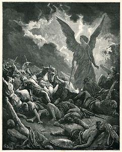 Antique Bible Print 1880