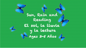 Weekly Themes #2: Sun, Rain, and Reading for 3-5 years old