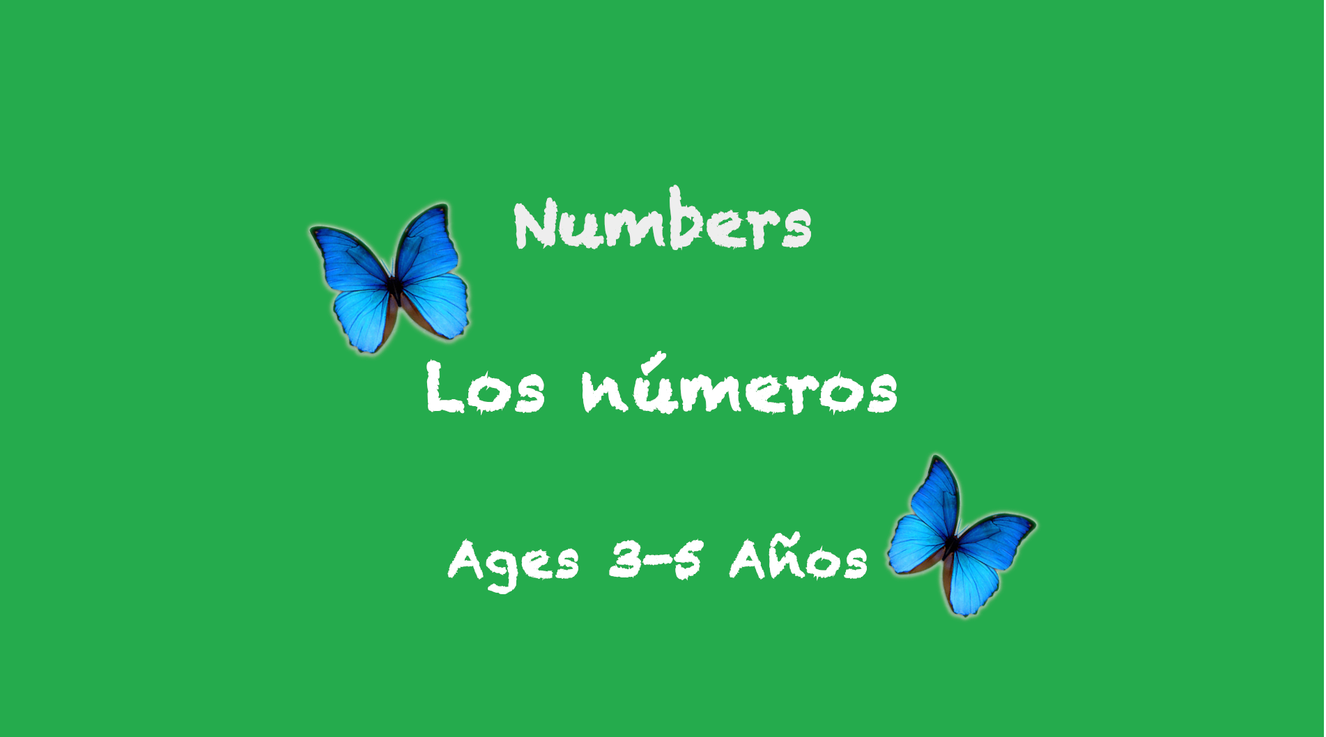 Numbers for 3-5 years old