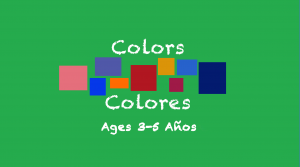 Colors theme for 3-5 year olds
