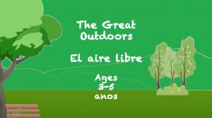 Lectura al aire libre para niños de 3 a 5 años
