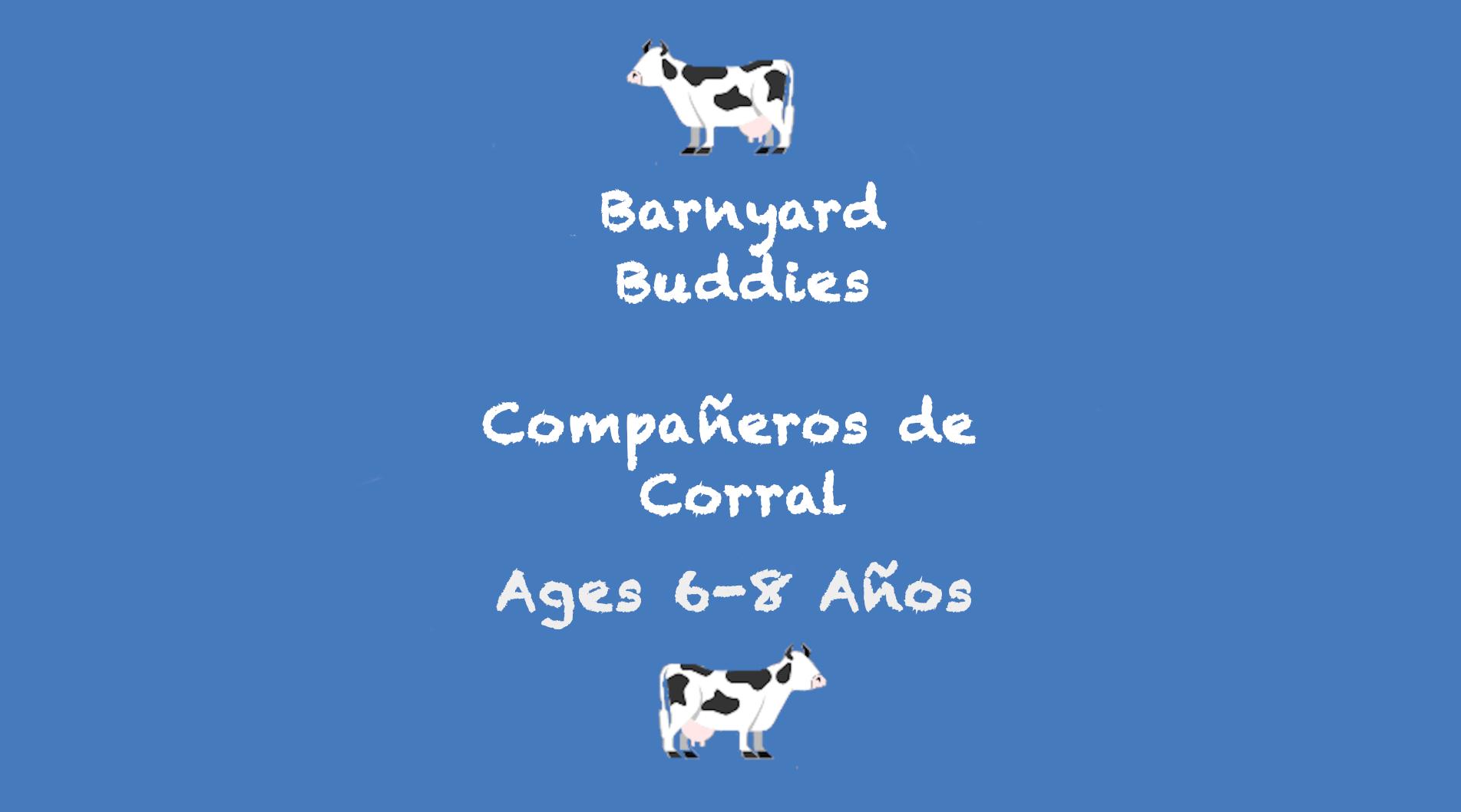 Week 8 Barnyard Buddies Card Ages 6-8