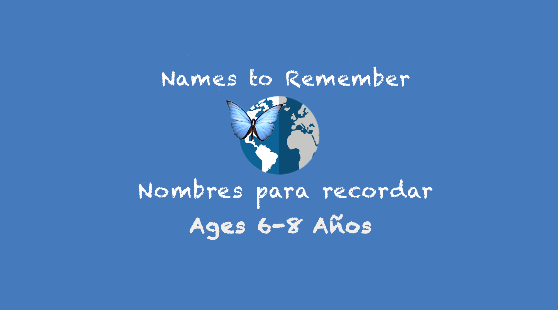 Weekly Themes #9: Names to Remember for 6-8 years old