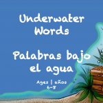 Weekly Themes BookSpring at-home learning Underwater Word ages 6-8