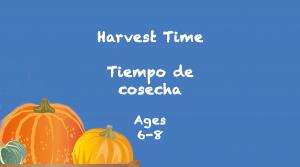 Tiempo de cosecha para niños de 6 a 8 años