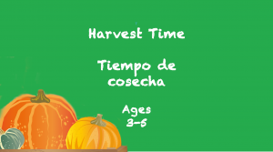 Harvest for 3-5 year olds