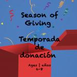Temas Semanales #19 Temporada de Donaciones para niños de 6-8 años