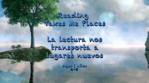 Reading Takes Me Places ages 3-5