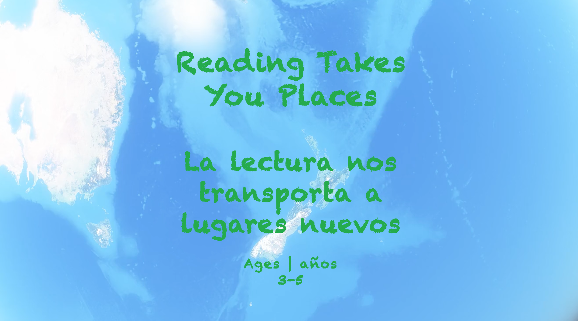 Week 22 Reading Takes You Places Card Ages 3-5