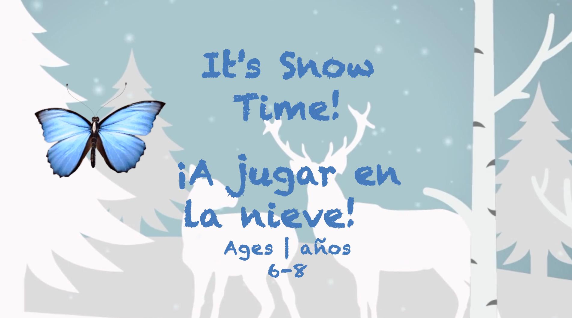 Temas semanales #23 ¡Es hora de la nieve! para niños de 6 a 8 años