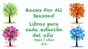 Semana 26 Tarjeta de libros para todas las estaciones del año de 3 a 5 años