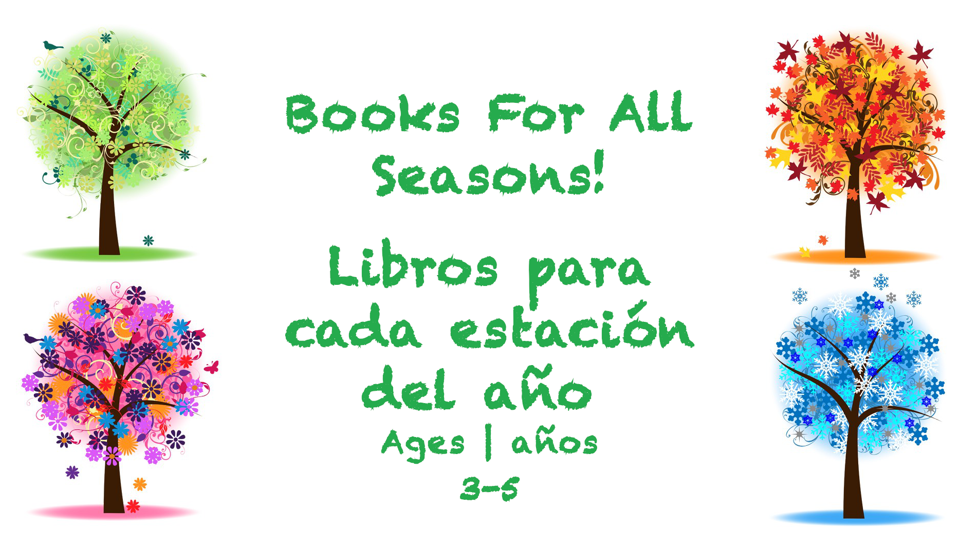 Week 26 Books for All Seaasons Card Ages 3-5