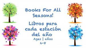 Semana 26 Tarjeta de libros para todas las estaciones del año 6-8 años