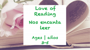 Week 27 Love of Reading Card Ages 3-5