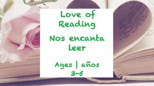 Semana 27 Tarjeta de amor a la lectura Edades 3-5