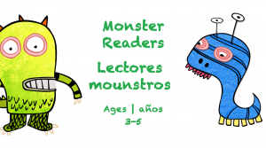 Week 28 Monster Reader Card Ages 3-5