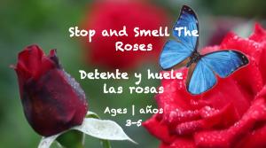 "Temas semanales 34: Tarjeta ""Huele las rosas"" Edades 3-5"