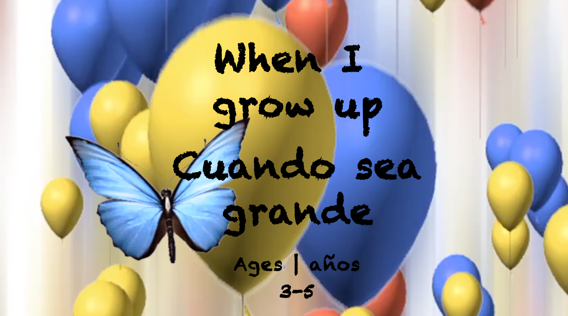 Week 35 When I Grow Up Card Ages 3-5