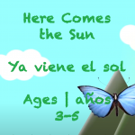 Week 38 Here Comes The Sun Ages 3-5