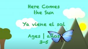Semana 38 Aquí viene el sol Edades 3-5
