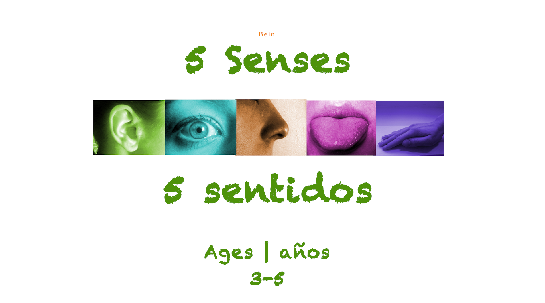 Week 5 senses Ages 3-5