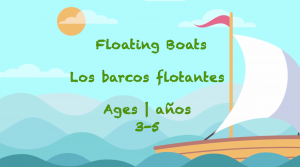 Week 51 Floating Boats Card Ages 3-5